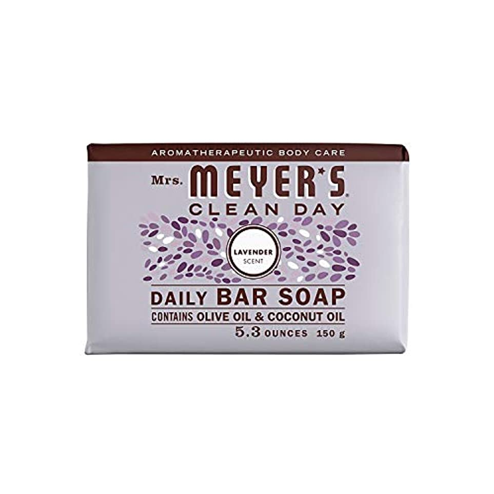 マーティンルーサーキングジュニア可能作りますBar Soap - Lavender - 5.3 oz - Case of 12 by Mrs. Meyer's