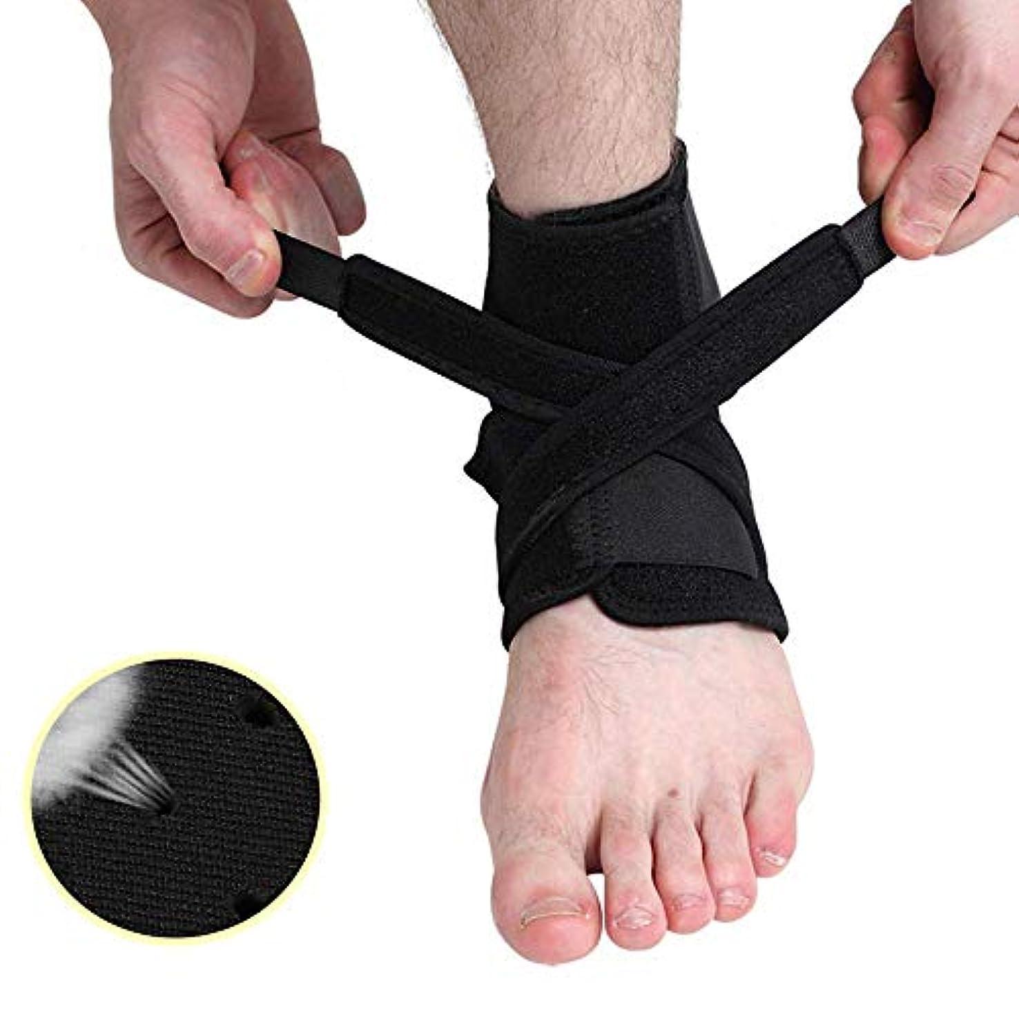 弾性上流のビルダー足首関節サポート - 男性と女性用の足首関節包帯、通気性足首関節ケア、ウォーキング、ランニング、関節炎捻挫保護に適しています