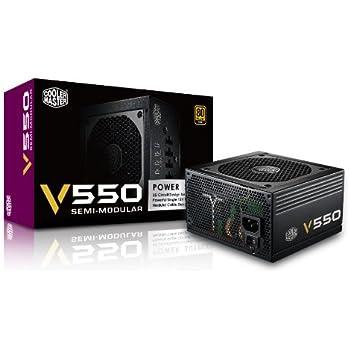 CoolerMaster 80PLUS GOLD認証 550W電源ユニット V550 Semi-Modular (型番:RS550-AMAAG1-JP)