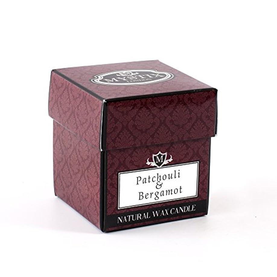 コテージブラスト膨らませるMystix London   Patchouli & Bergamot Scented Candle x 5