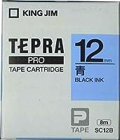 キングジム PROテープカートリッジ・カラーラベル SC12B 00020208 【まとめ買い3個セット】
