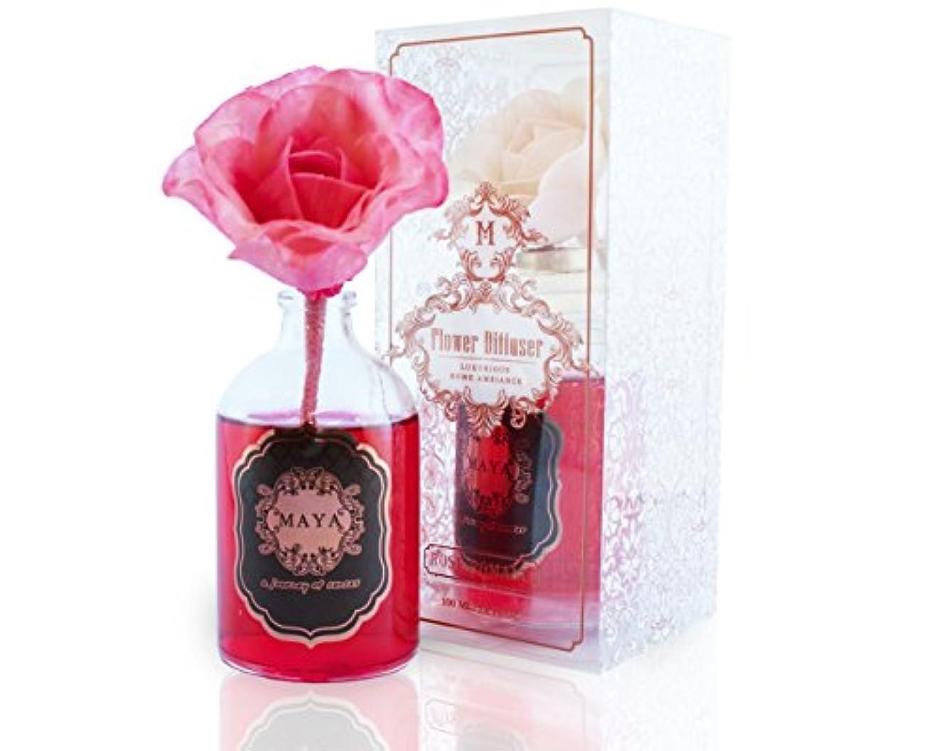タイマー洗練された恐れるMAYA フラワーディフューザー ローズロマンス 100ml [並行輸入品] |Aroma Flower Diffuser - Rose Romance 100ml