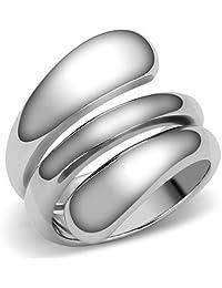 Lanyjewelry Designer Style 316 Stainless Steel Plain Women's Fashion Ring