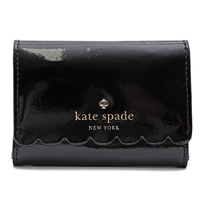 (ケイトスペード)KATE SPADE カードケース キーポーチ 名刺入れ LILY AVENUE PATENT DARLA パテントレザー フリルデザイン(ブラック×ベージュ) PWRU5163 290/BLACK*CRISP...