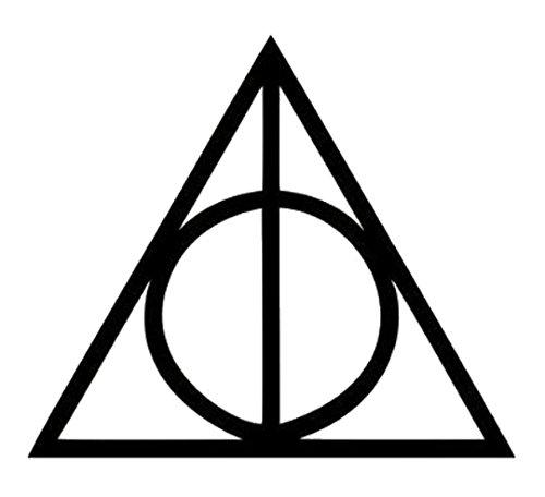 ハリーポッター Harry Potter 死の秘宝 Deathly Hallows ロゴ logo シンボルマーク ステッカー シール (デカール) ブラック