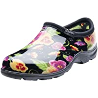 Sloggers Women's Waterproof Rain and Garden Shoe with Comfort Insole, Pansy Black, Size 9, Style 5114BP09