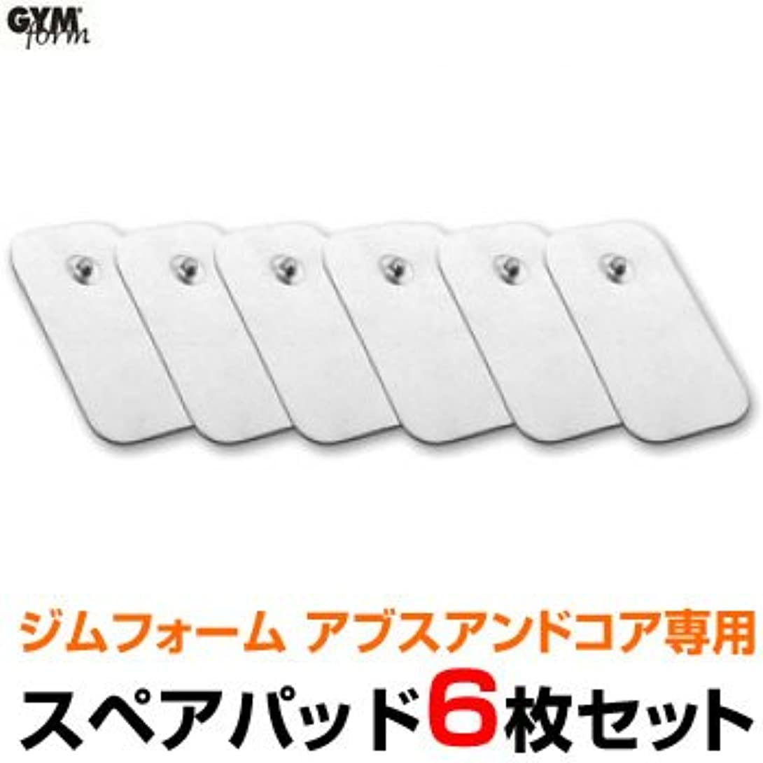 部分何故なのポータージムフォーム アブス&コア専用スペアパッド(GYMform ABS&CORE)6枚セット