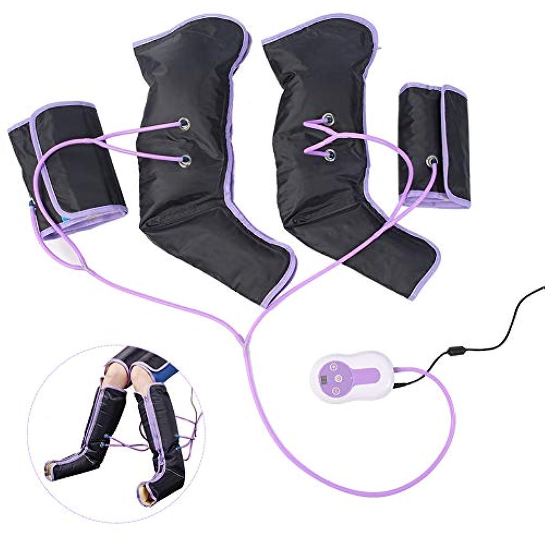 見捨てる反対にコンパイル足の空気圧縮マッサージャー、足とふくらはぎの痛みを軽減するためのハンドヘルドコントローラーとラップ、電気循環脚ラップ、循環を改善し、筋肉をリラックス(US-PLUG)
