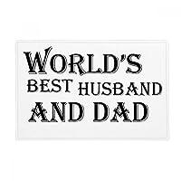 夢の世界の很高のおとうさんと夫の引用 アンチスリップマット浴室床カーペットをリビングルーム・キッチン扉16 x 30とquot ; quot ;ギフト