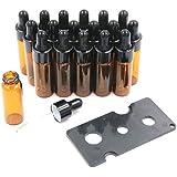 XPdesign アロマ スポイト遮光瓶 アロマオイル 遮光瓶 保存 容器 小分け 詰め替え 香水 ボトル (5ml 18本セット)