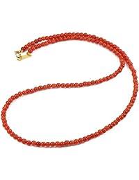 地中海紅珊瑚 ネックレス シルバー(無染色)(サルジ?胡渡)コーラル SANSUI