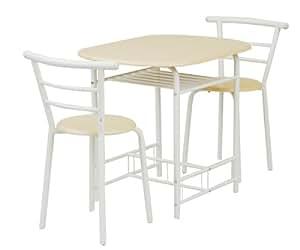 山善(YAMAZEN) ベリーベリーキッチン ダイニングテーブル&チェア(3点セット) ナチュラルメイプル/アイボリー YSD-6080(NM/IV)