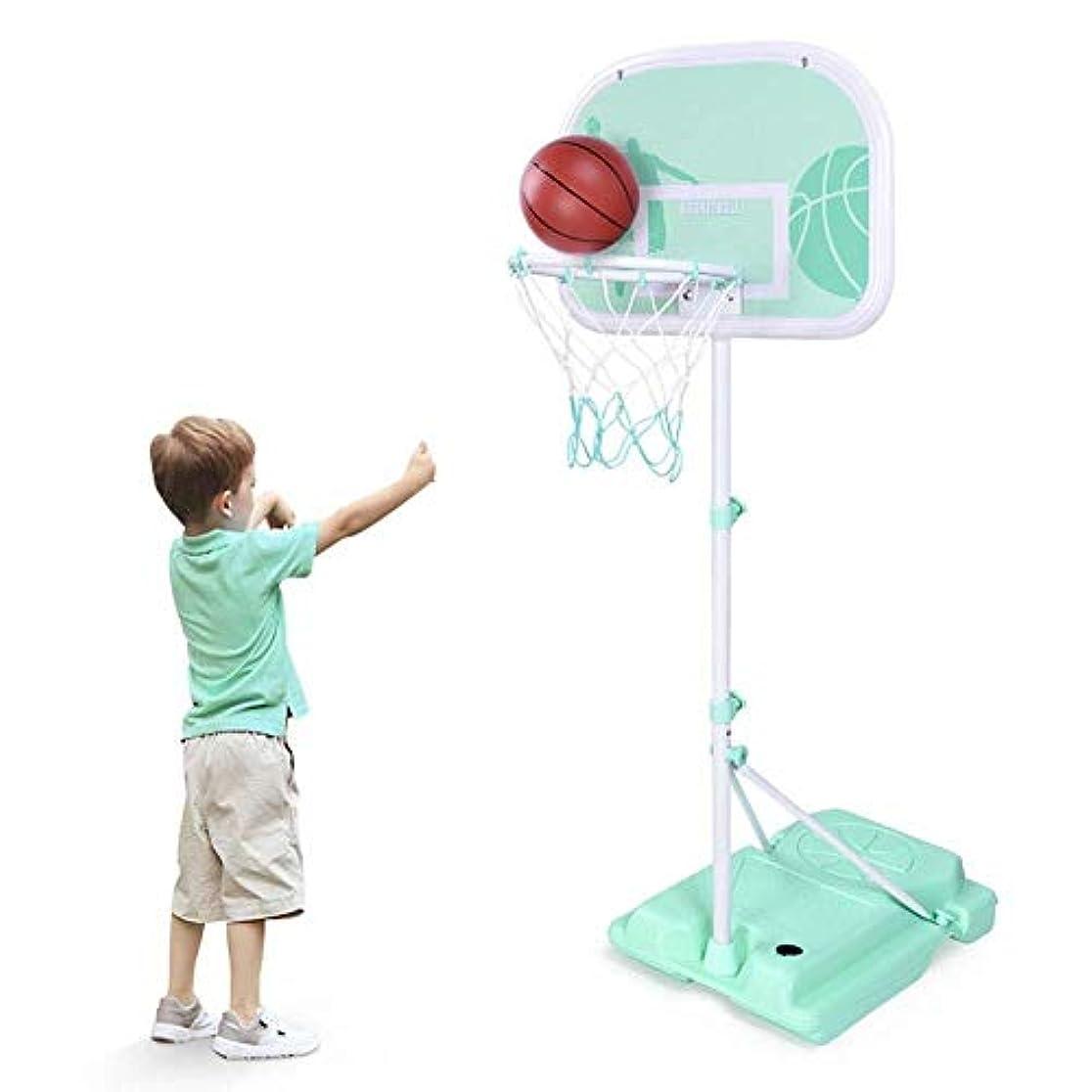 小屋政権五バスケットボールスタンド ボールを持つ子供のバスケットボールフープ、ブルーキッズバスケットボールは、幼児の少年少女のための地下スポーツスタンド、高さ調節可能 高さ調節可能なバスケットボールスタンド (Size : L-2.1m)