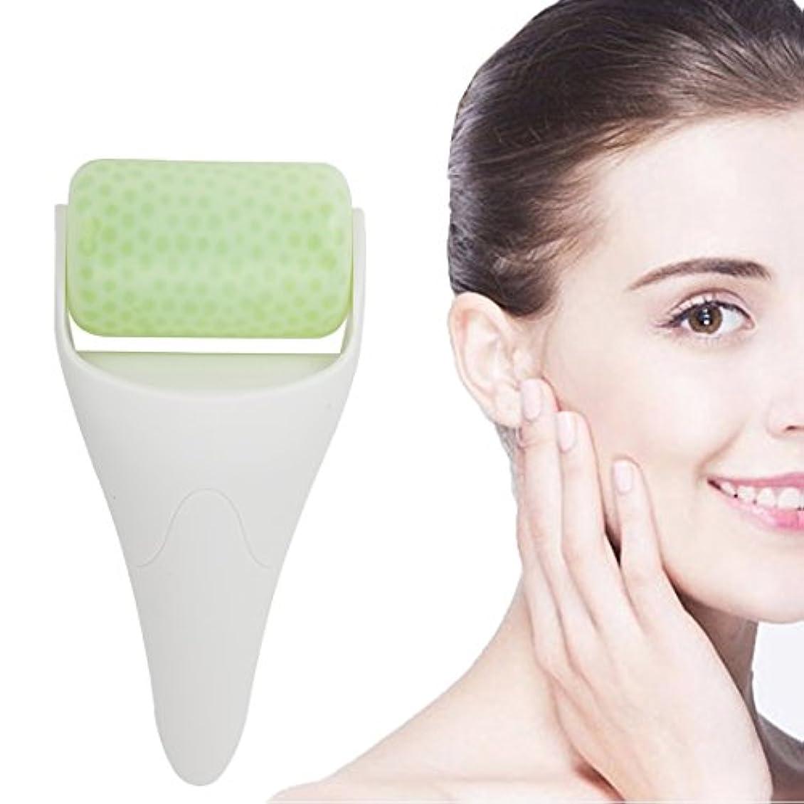 用量未払い洞窟フェイスローラー,冷却 フェイスアイスマッサージャー 携帯便利 美顔ローラー ボディー 美容 マッサージ器 ホワイト