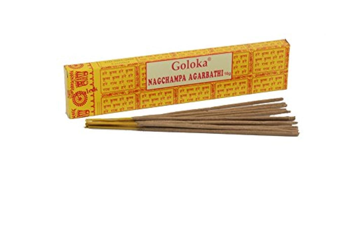 グリット嫌がるデッキGoloka Nag Champa Incense Sticks by Goloka