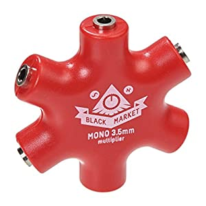 Black Market Modular/monomult(red), 1:5マルチプル・コネクター,MONO,3.5mm,色=赤,モジュラーシンセ