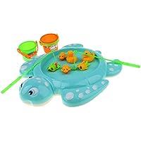 F Fityle 3色選ぶ 子供のため 魚模型 プール 釣りおもちゃ 磁気 釣りプレイ バスおもちゃ 11個 - マルチカラー