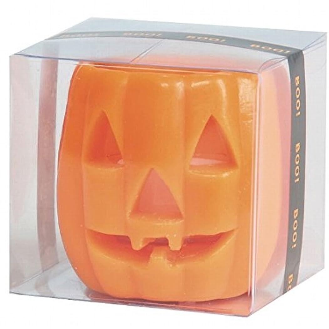 状適切にまっすぐカメヤマキャンドル(kameyama candle) パンプキンフェイスS 「 オレンジ 」 キャンドル