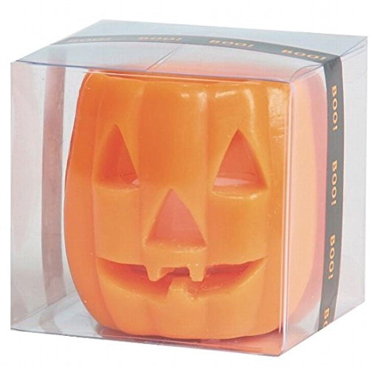 車両モチーフ日付付きカメヤマキャンドル(kameyama candle) パンプキンフェイスS 「 オレンジ 」 キャンドル