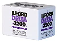 Ilford 1887710Delta 3200Professional、ブラックとホワイト印刷映画、13535mm、ISO 3200、36exposures 2-Pack