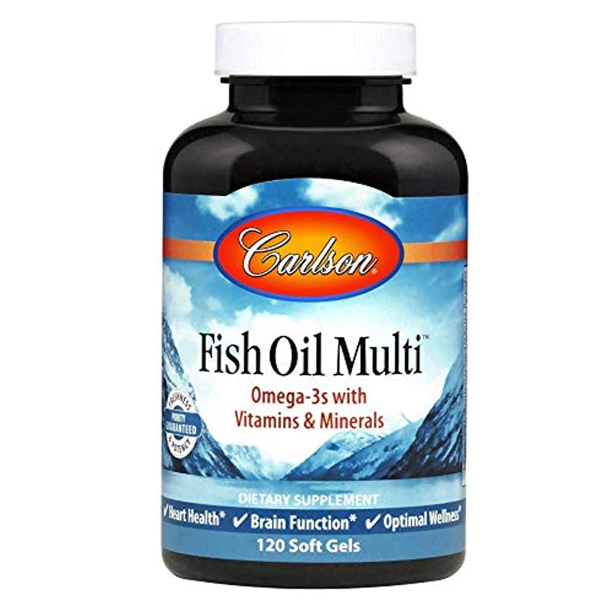 落ちたキラウエア山控えるCarlson Labs, Fish Oil Multi, 120 Soft Gels