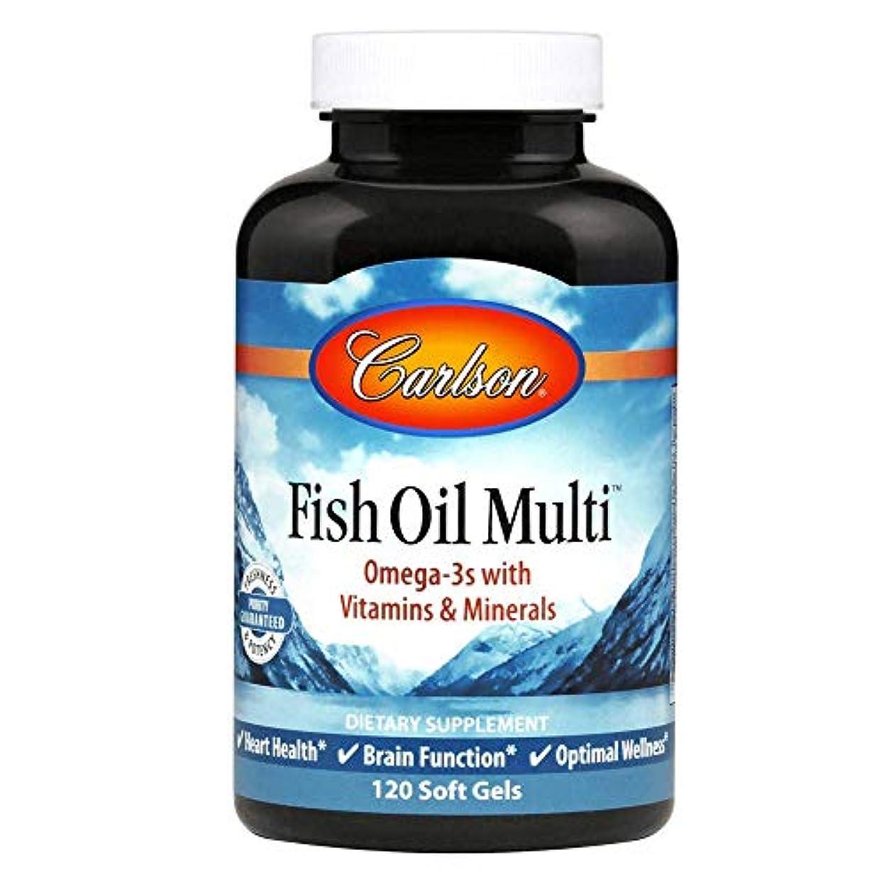 架空の横変成器Carlson Labs, Fish Oil Multi, 120 Soft Gels