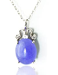 One&Only Jewellery 【鑑別書付】 ミャンマー産 ラベンダー 本翡翠 デザイン ネックレス ペンダント K18GP 5月誕生石