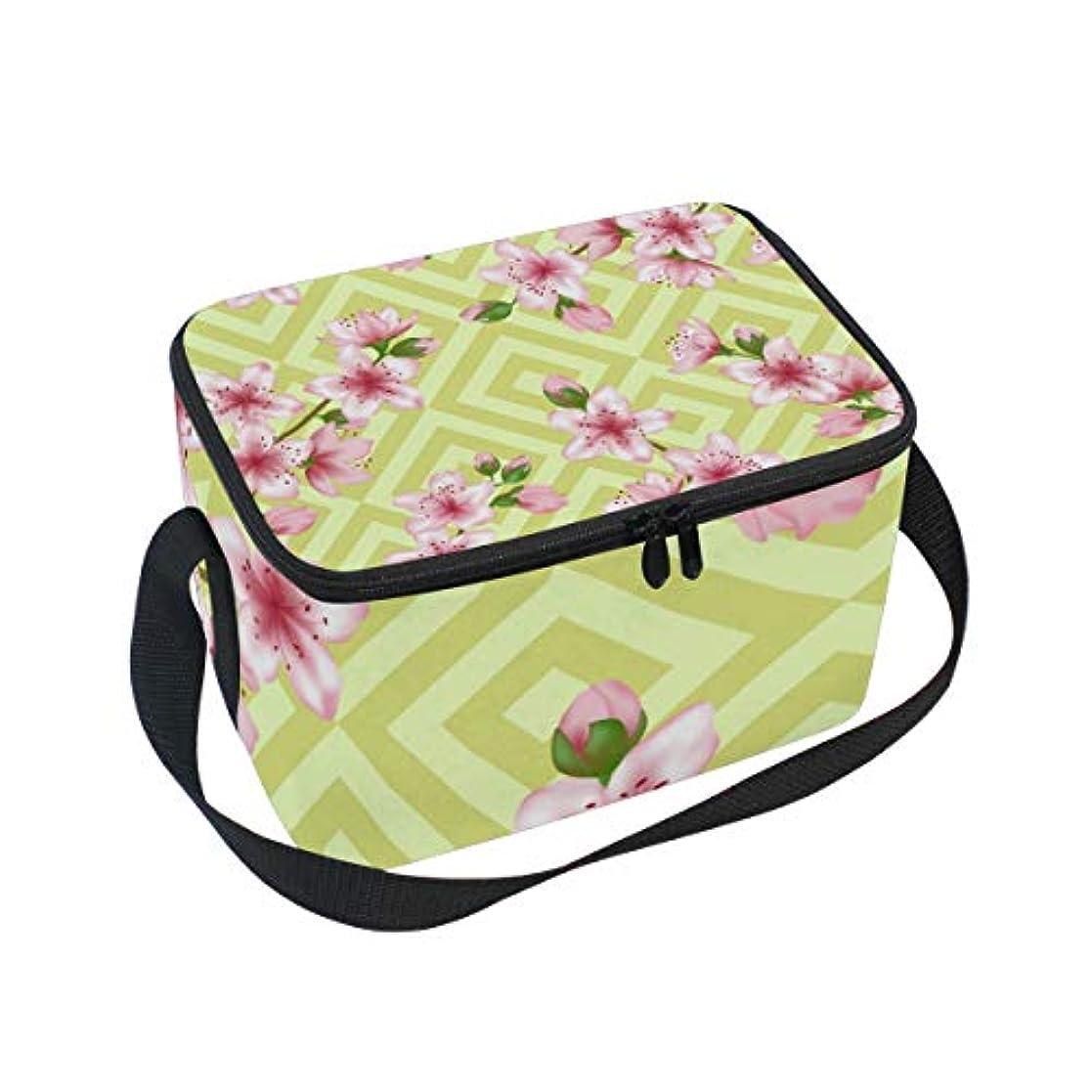 の間で転用ライバルクーラーバッグ クーラーボックス ソフトクーラ 冷蔵ボックス キャンプ用品 桜花柄 保冷保温 大容量 肩掛け お花見 アウトドア