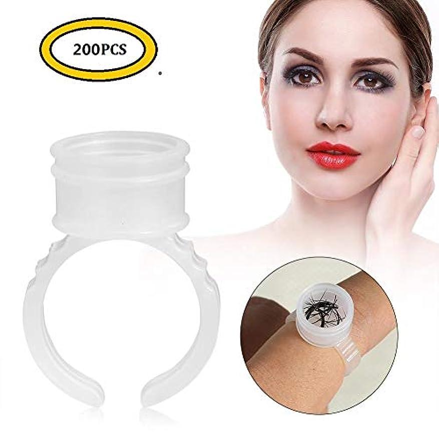 必要とする原子ファンタトゥーインクリング、100/200/500個使い捨て眉毛タトゥーインクリング顔料ホルダーコンテナカップ大(200pcs)