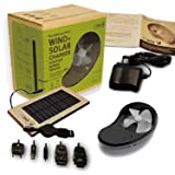 HYmini Wind + Solar Power Battery Charger Deluxe Pack Black