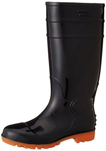 [フジテブクロ] 安全長靴 黒・白 耐油 ロング PVC 先芯入 8893 メンズ BLACK 26.0cm