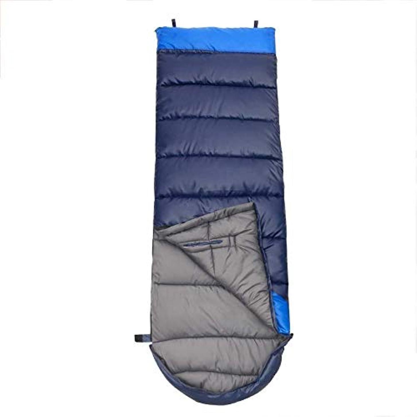 絶滅した器具申請者軽量キャンプ用寝袋ウォームシングル3シーズン大人のハイキング登山に最適屋外活動緑青(色:青)