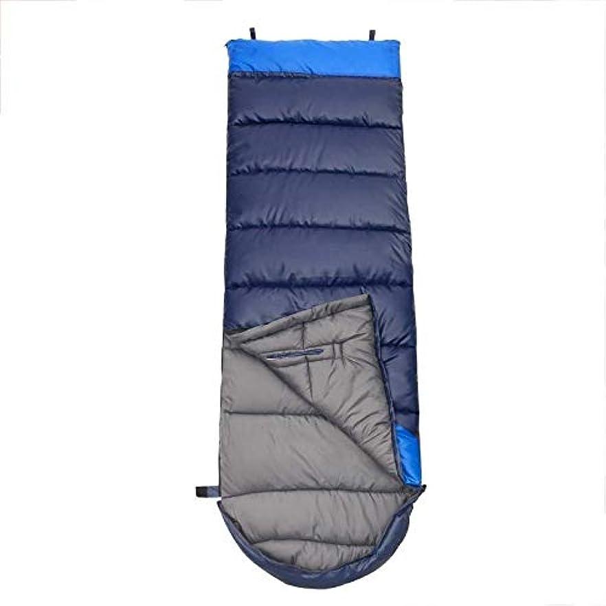 元の引用スキャン軽量キャンプ用寝袋ウォームシングル3シーズン大人のハイキング登山に最適屋外活動緑青(色:青)
