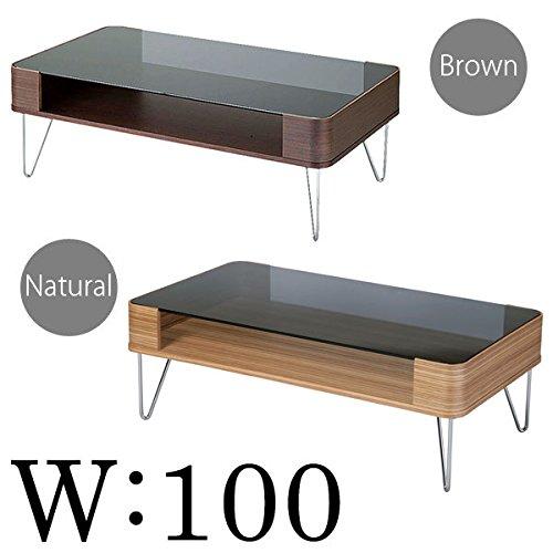 曲げ木 ガラス テーブル幅100( センターテーブル ガラステーブル 和室 机 リビングテーブル 和モダン 洋モダン ナチュラル ) ナチュラル