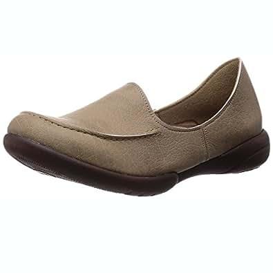 レディース トラベル シューズ リゲッタ(Re:getA) ローファー ドライビングシューズ 旅行用 靴 (S:22.0~22.5cm, オーク)