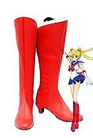 Sailor Moon Usagi Tsukinoコスプレ靴ブーツカスタムMade 2 レッド