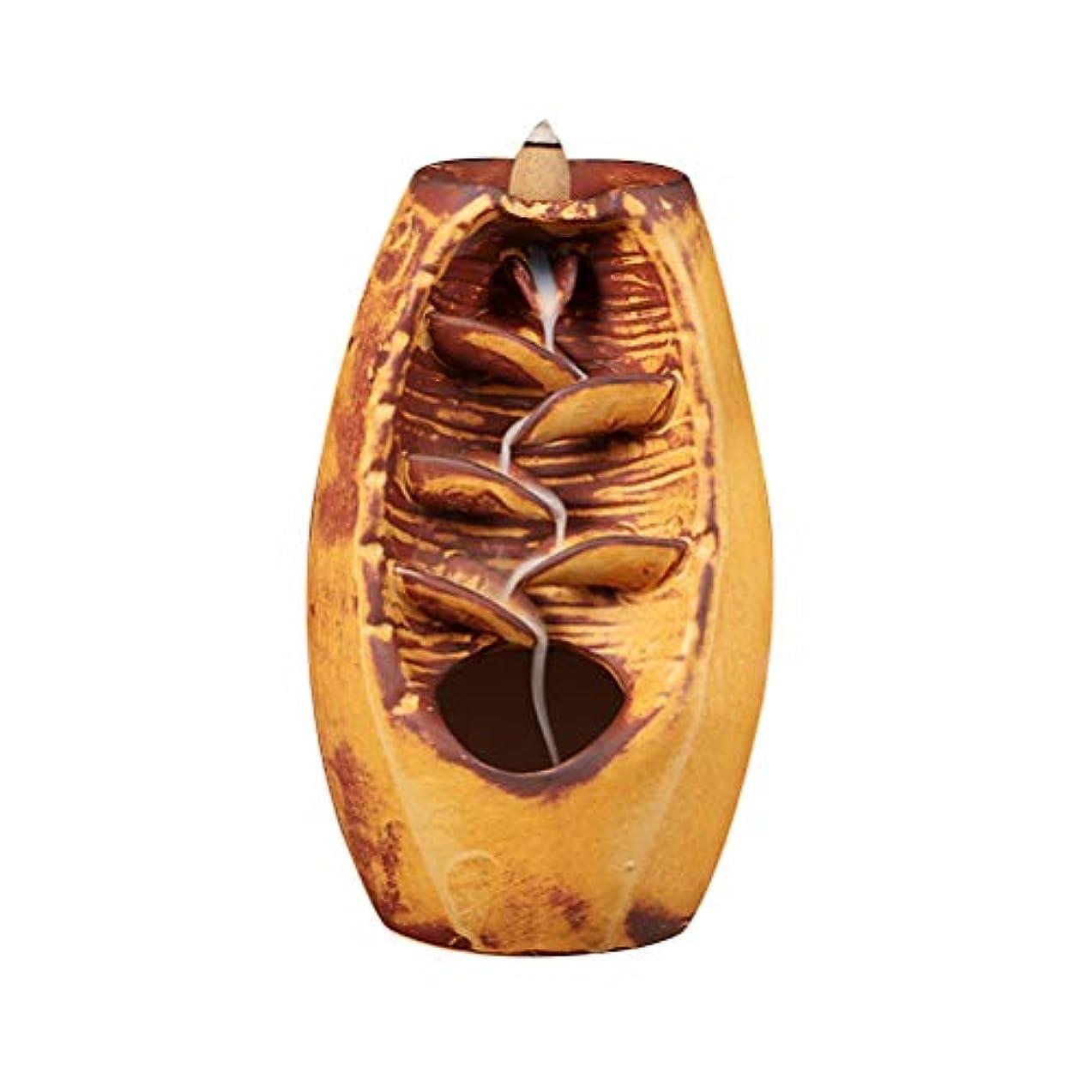 満足真鍮避難するVosarea 逆流香バーナー滝香ホルダーアロマ飾り仏教用品(金)