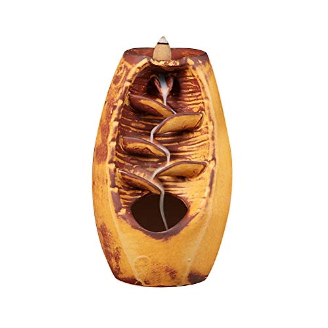 シリンダー謝るするだろうVosarea 逆流香バーナー滝香ホルダーアロマ飾り仏教用品(金)