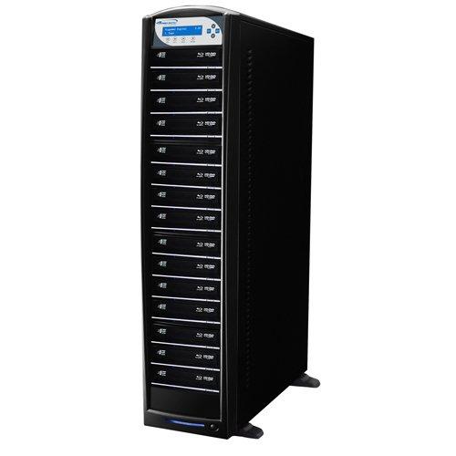 SharkBlu BDXL / Blu - ray / DVD / CDスタンドアロンディスクDuplicator + USB 3.0+ 500GB HDD 15 Target SHARKBLU-S15T-XL-BK