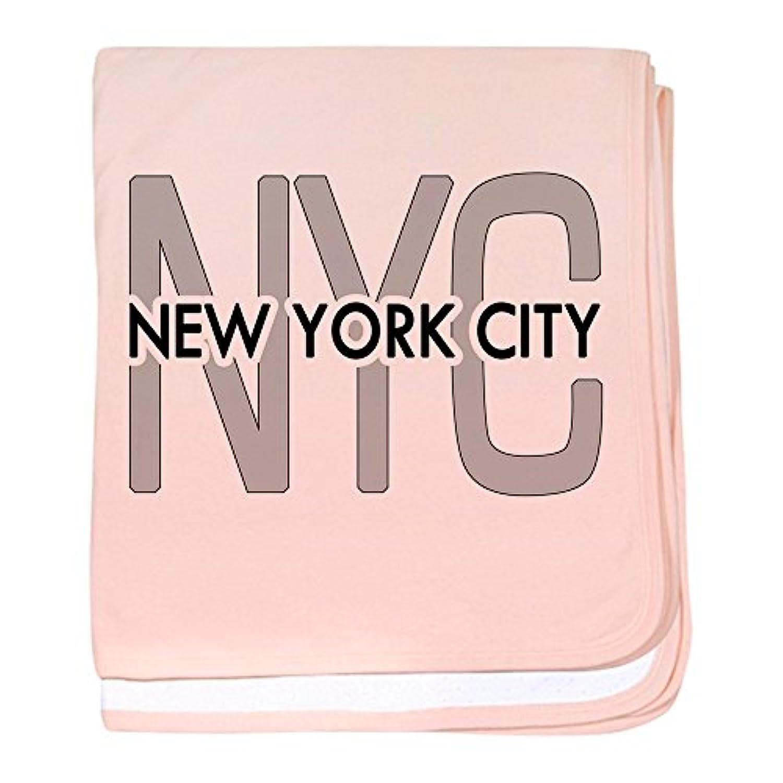 CafePress – Nycity – スーパーソフトベビー毛布、新生児おくるみ ピンク 06151222096832E