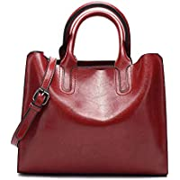 Women's Handbags,Popoti Leather Shoulder Bags Messenger Crossbody Tote Bags Vintage New Elegant Lady Shopping Pockets Wallet