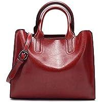 Women's Handbags,Popoti Leather Shoulder Bags Messenger Crossbody Tote Bags Vintage New Elegant Lady Shopping Pockets Wallet