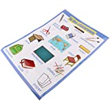 F Fityle 就学前教育 ウォールチャート 英単語 子供教育 ウォールポスター 幼稚園 全7種選択可 - 形状