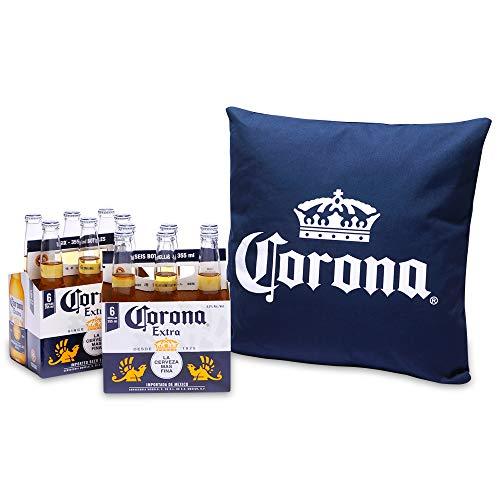 【オリジナルクッション付き】コロナ・エキストラ ボトル クッションカラー:紺 [ メキシコ 355ml×12本 ] [ギフトBox入り]
