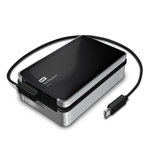 WD デュアルドライブポータブルHDD My Passport Pro 4TB 3年保証 Mac用 Thunderbolt x 1 RAID 0/1対応 WDBRNB0040DBK-JESN