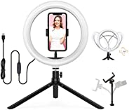 Ring Light 10-inch with 3 Light Modes &10 Level Bright