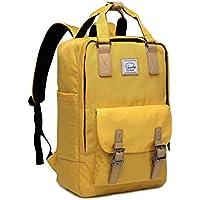 Backpack for Teen Girls,VASCHY Vintage Laptop Backpack Water-Resistant School Backpack Yellow