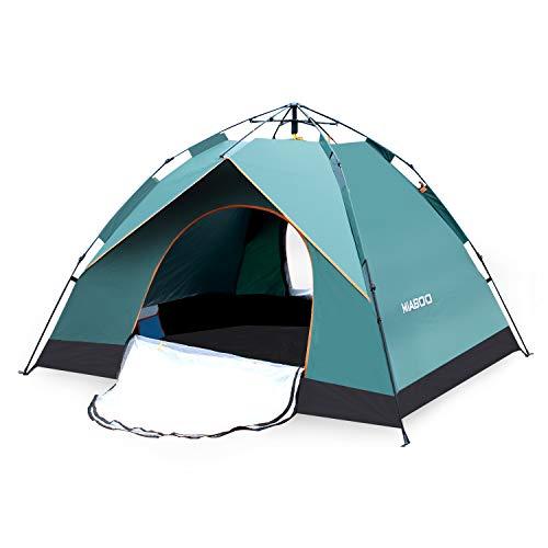 MIABOO テント ワンタッチテント キャンプテント 3~4人用 防水 UVカット 折り畳み 専用収納袋付き