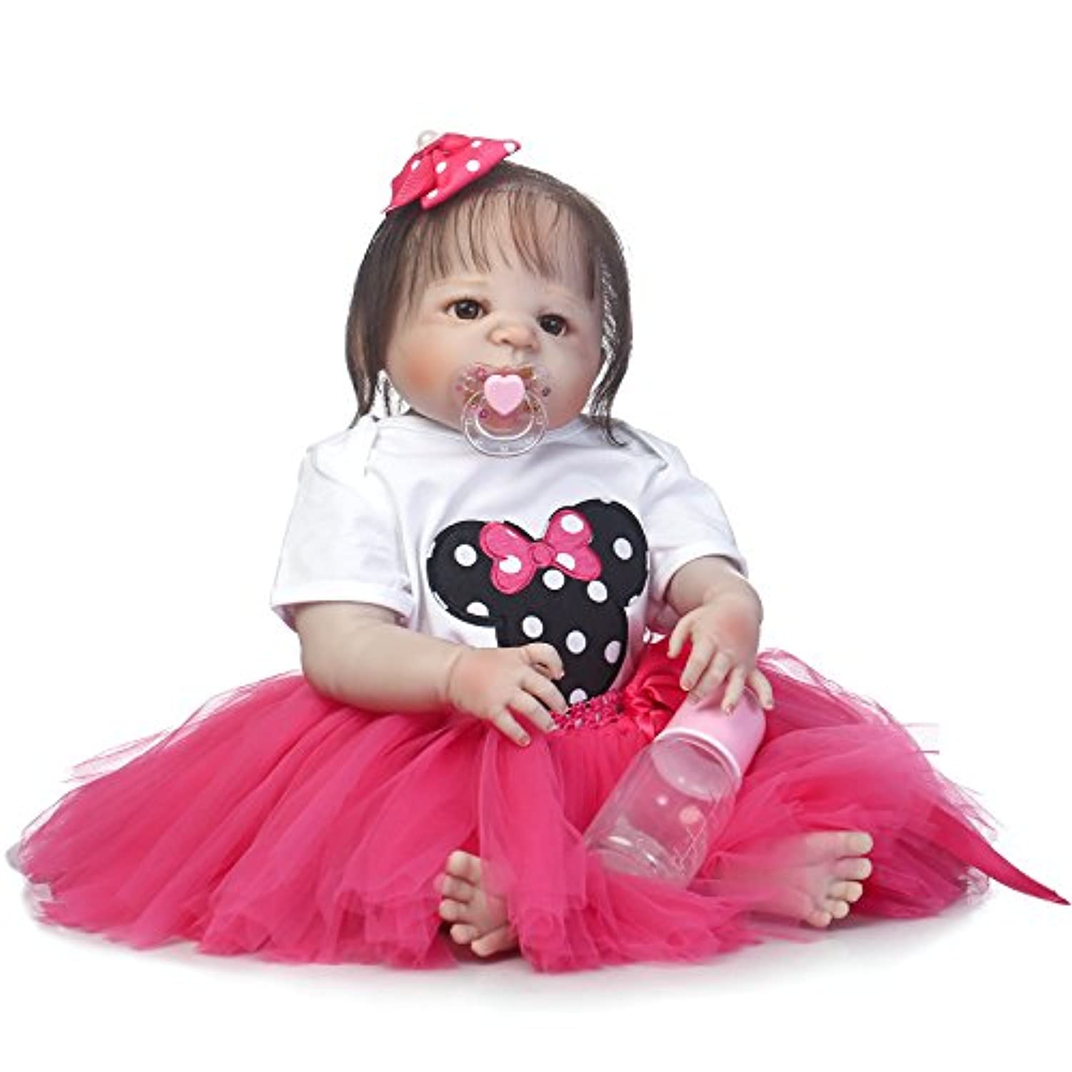 SanyDoll Rebornベビー人形ソフトSilicone 22インチ55 cm磁気Lovely Lifelike Cute Lovely Baby b0763ldkmz