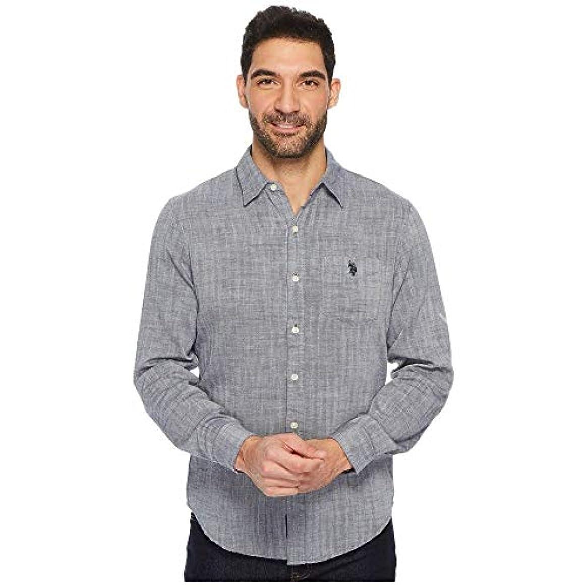 申し立てるアウトドア真珠のような(ユーエスポロアッスン) U.S. POLO ASSN. メンズ トップス シャツ Slim Fit Solid Long Sleeve Sport Shirt [並行輸入品]